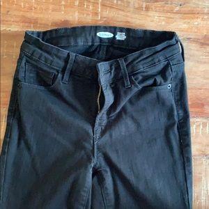 OLD NAVY size 2 blk rockstar sculpt skinny jeans